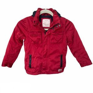 Zara Boys Collection Red Coat Size 6